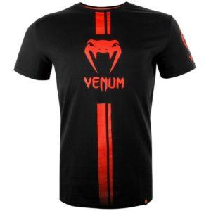 t-shirt VENUM lOGOS noir/rouge