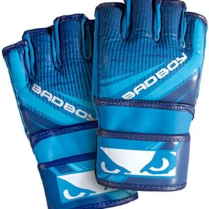 Gloves MMA BADBOY without thumb blue