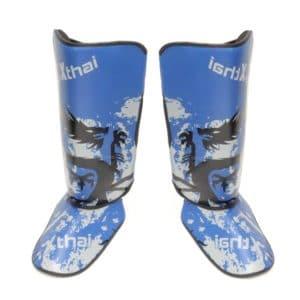 Protège-tibias XTHAI Dragon bleu