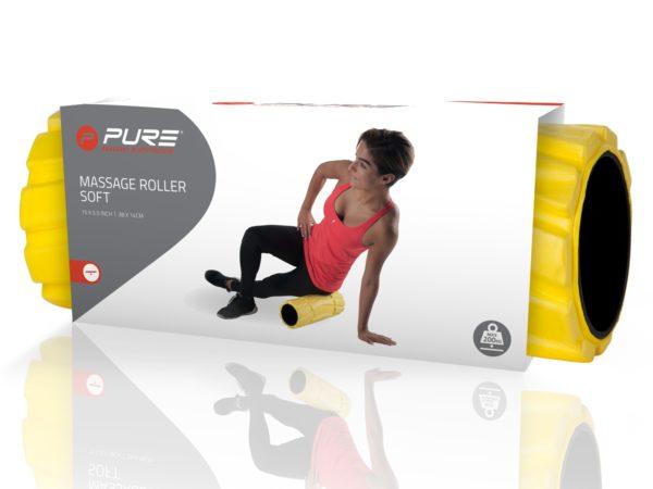 Rouleau de massage soft PURE jaune