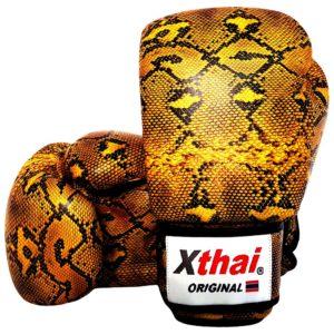 Gants de boxe cuir XTHAI Snake gold