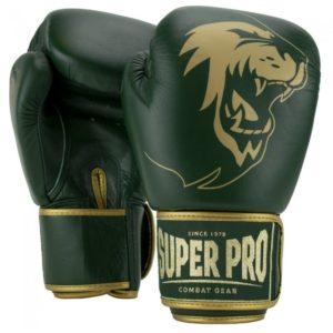 Gants de boxe cuir SUPER PRO Warrior vert