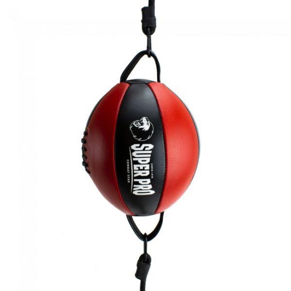 Ballon de frappe double attache en cuir SUPER PRO