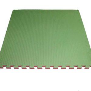 Tapis puzzle 1mx1mx4cm Vert / Rouge